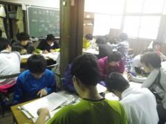 桂小場学生宿舎にて天気図の作製