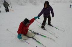 歩くスキーの様子