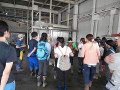 JA集荷場の予冷施設見学