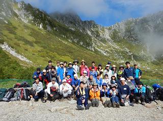 千畳敷にて(9月7日)登山出発前の記念写真.png