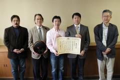 受賞した教員(左から渡邉、中村(寛)、竹田、中村(宗)、北原)