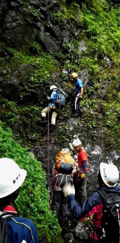 アルプス登山学演習の様子