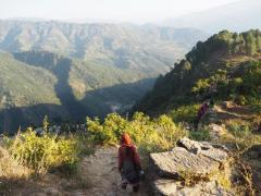 ネパール極西部セティ県ドーティ郡山岳地域の農村