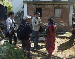 ネパール極西部セティ県ドーティ郡の農村での調査