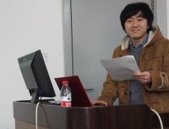 車田翔平(学部4年生)による研究発表