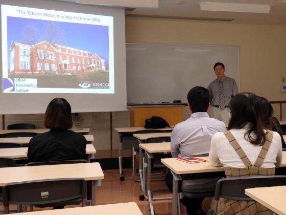 米国オハイオ大学のWu教授を迎えて国際セミナーを開催しました