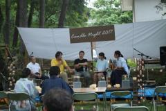 夏の信大Earth Caféの対談企画の様子