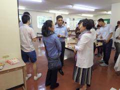 生協食堂で行われた懇談会