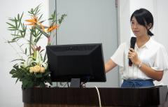 大学院2年生畠山佳奈実さんによる学生交流セミナー発表