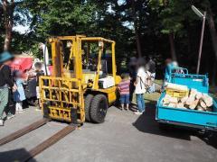 林業機械の見学