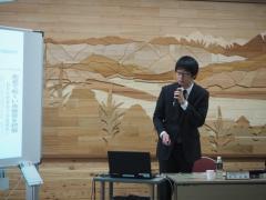 実証実験の結果報告をする竹中悠輝さん