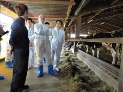 乳牛の状態を監視すべく課題の抽出を生産者と議論しました