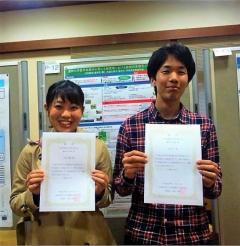 受賞した中原美穂さん(左)と田島 尚さん(右)