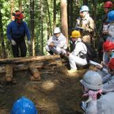 9月 林業路網開設現場の見学②
