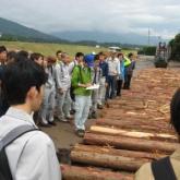 5月 林業施設の見学(木材市場)
