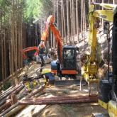 9月 木材生産システムの研修①