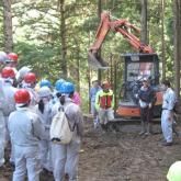 9月 林業路網開設現場の見学①