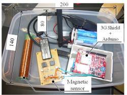 Arduinoと3Gシールドを用いた環境磁界モニタリング装置