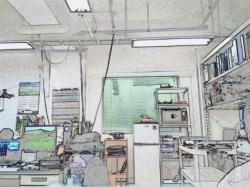 研究室風景リモート撮影(effectを