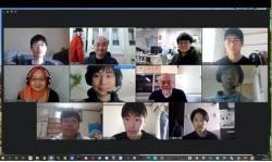 研究室会議の記念撮影