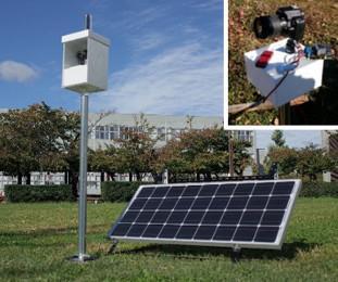 (左) 高精細全天球農園モニタリングシステム (右) 高精細農園モニタリングシステムの構成