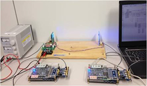 可視光通信の変・復調の実験:無線局免許や無線従事者免許が必要ないので、研究室でも自由に通信実験ができる