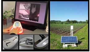 機能に気づかせるリモコンエージェント(左)と農園観測装置(右)