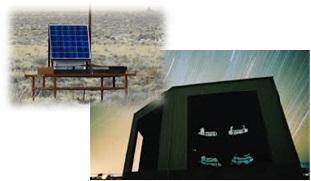 超高エネルギー宇宙線の観測施設。アメリカ(ユタ州)の砂漠に粒子検出器(500台)と大型望遠鏡(38台)を設置している。