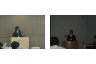 学生の研究発表:成果をまとめ,学会で発表。左はデータベース関連の大会,右は情報セキュリティの全国大会
