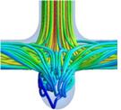 3次元血管モデルでのstream line