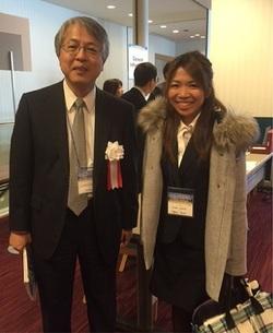 学会長の前村浩二先生と。