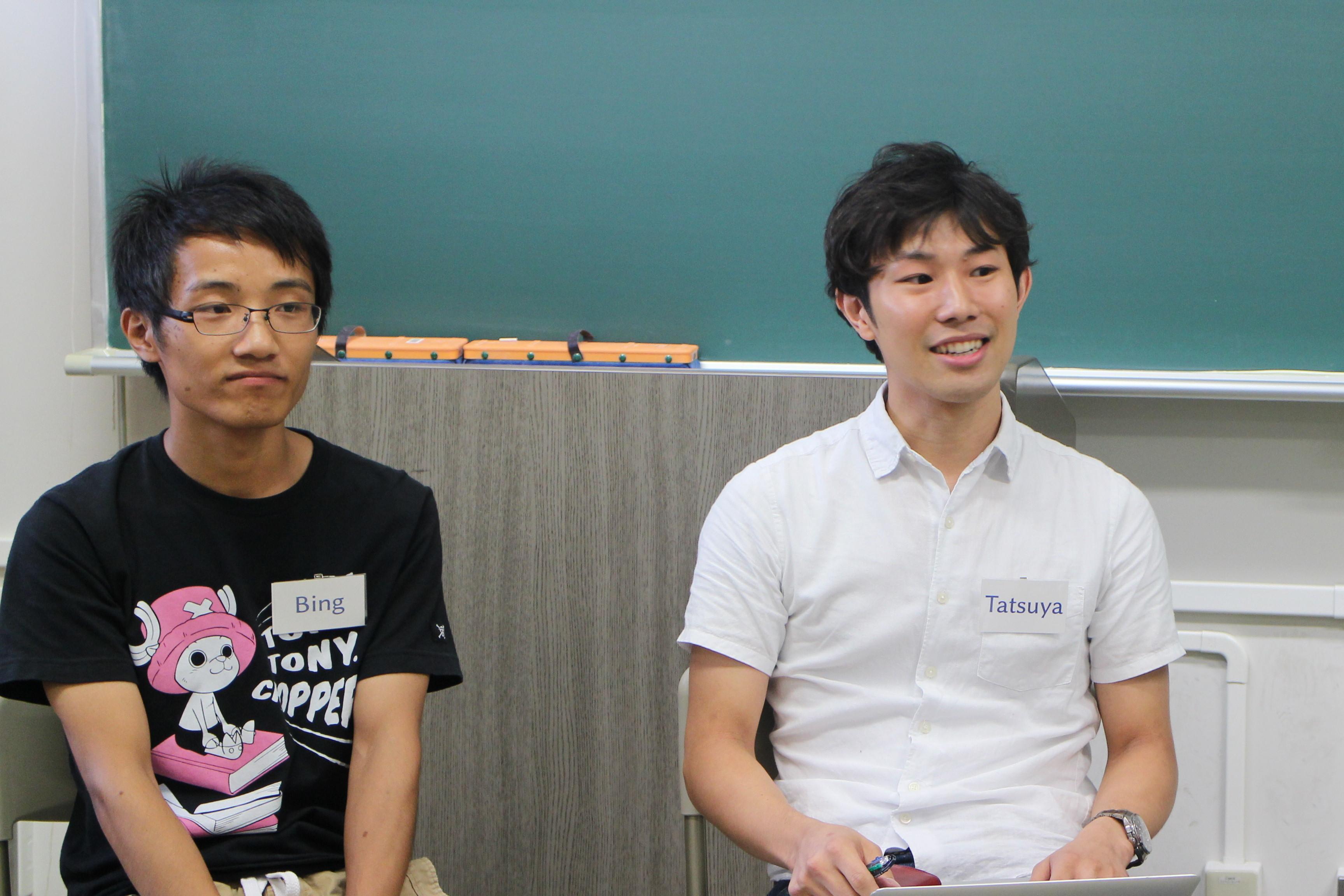 左:Bing Liuさん 右:石川達也さん