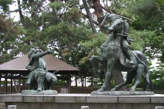武田信玄と上杉謙信の一騎討像