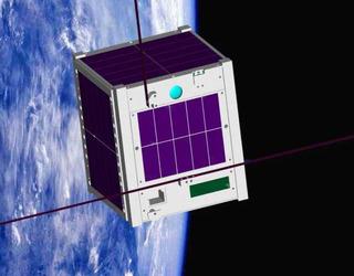 宇宙に浮かぶ人工衛星