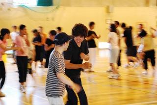 踊りの練習
