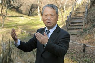 城跡と里山文化について解説する笹本正治教授