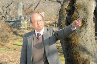 史跡と公園のあり方について提言する佐々木邦博教授