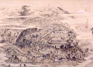 旧高遠城之真景