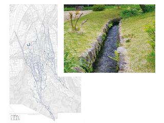 水路図と泉水路