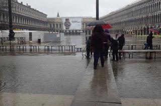 浸水しているサンマルコ広場