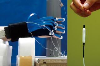 筋肉と同じ働きをする一次元(繊維状)の部品