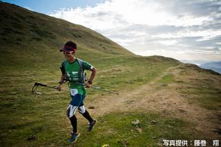 「グランド・レイド・ピレネー」大会で走る山本さん