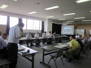 「米子の瀑布群」学術調査委員会会議