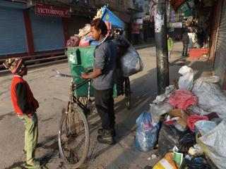 環境汚染が深刻なネパール