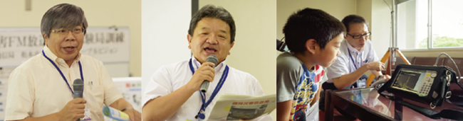菊池聡教授(写真左)・総務省信越総合通信局様(写真中)・テレビ松本様(写真右)