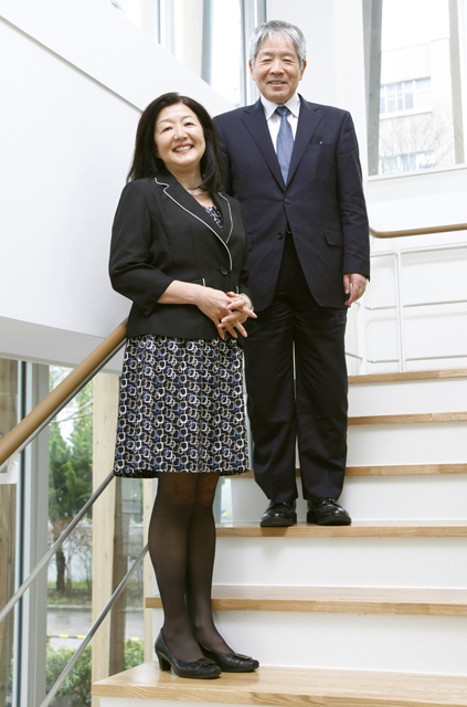 山沢学長と斉藤由香さん