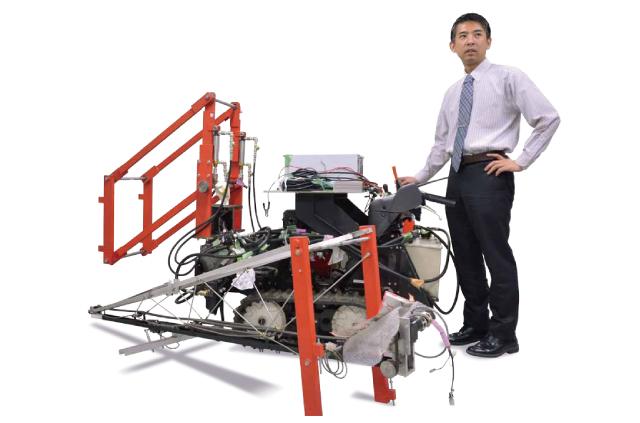 農作業を省力化するスイカの収穫ロボット(信州大学工学部機械システム工学科酒井 悟准教授)