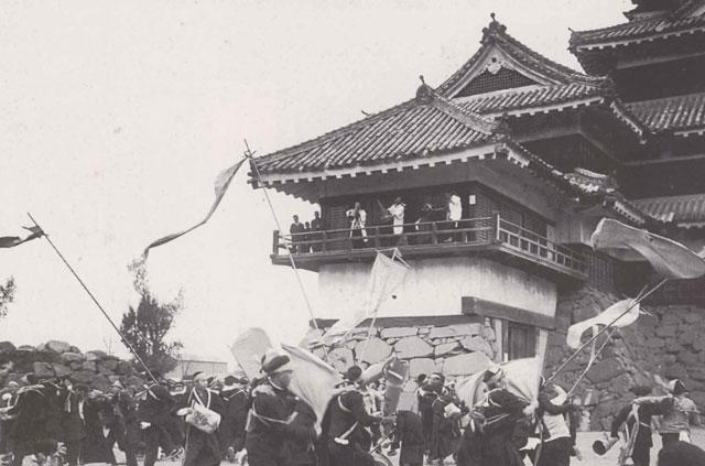 松本城でのストーム