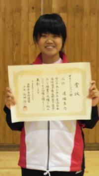 道端真乃さん(教育学部1年生)