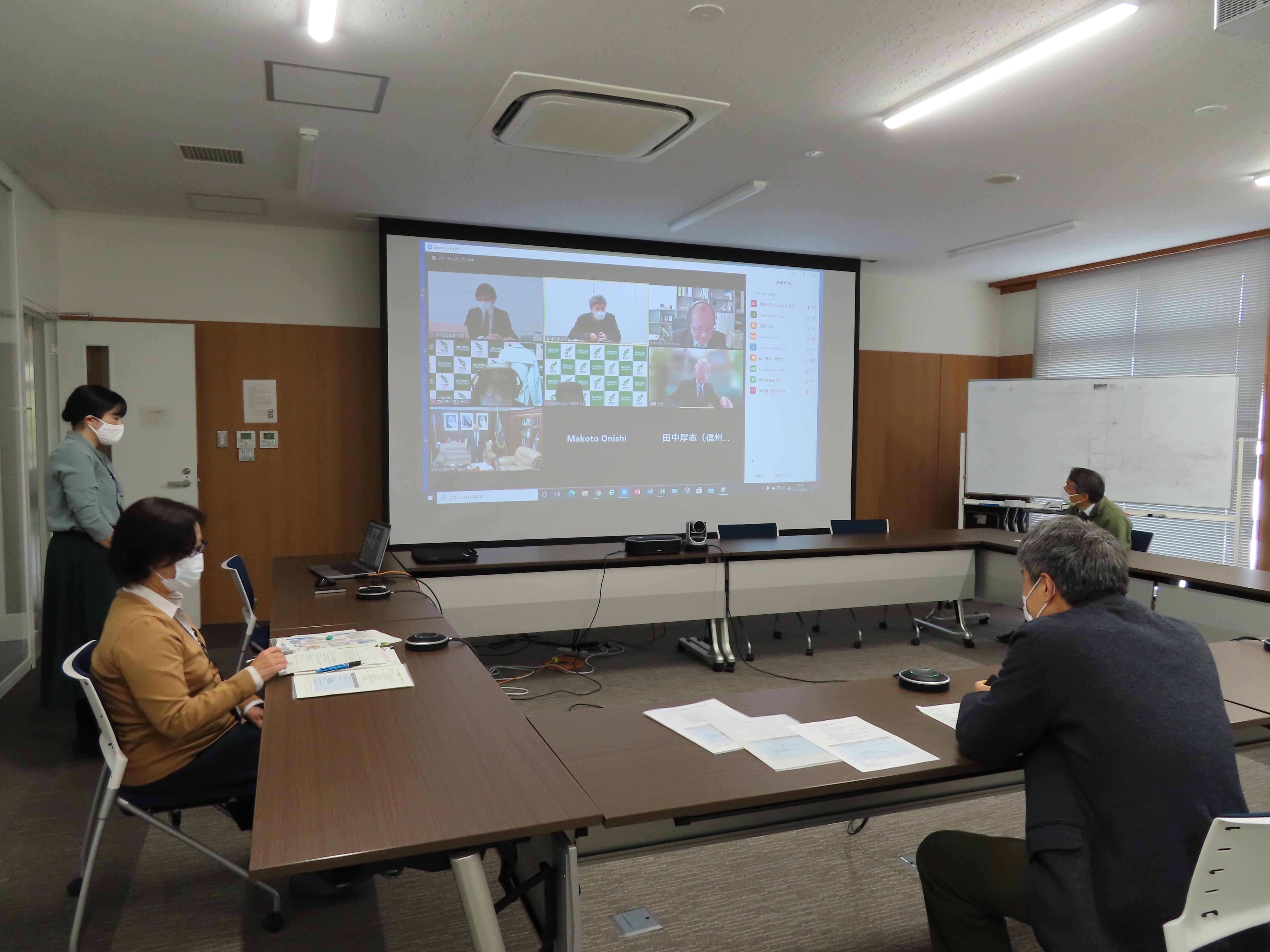 サウジアラビア文化アタッシェと意見交換会を開催の写真